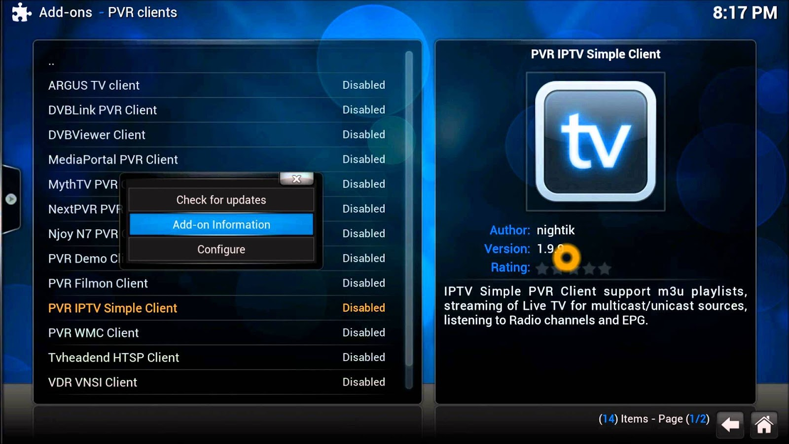 The Best Live TV IPTV Channels Kodi Addon - Consoleinfo
