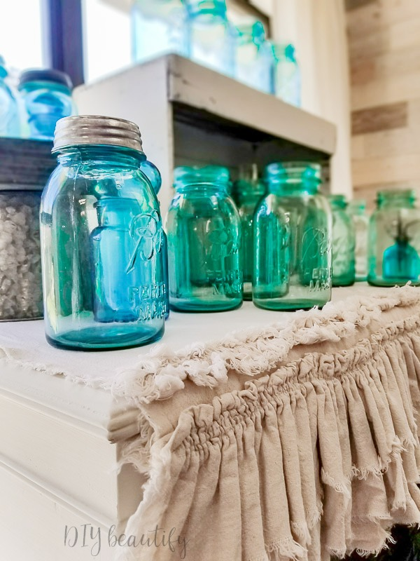 vintage ball jars display