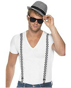 2 Tone/Ska Chequered Hat and Braces Kit