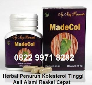 Obat Herbal alami penurun kolesterol Madecol asli tradisional