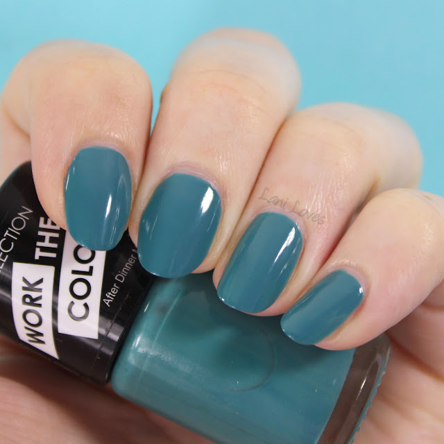 Collection Work the Colour Nail Polish - After Dinner Mint swatches & review