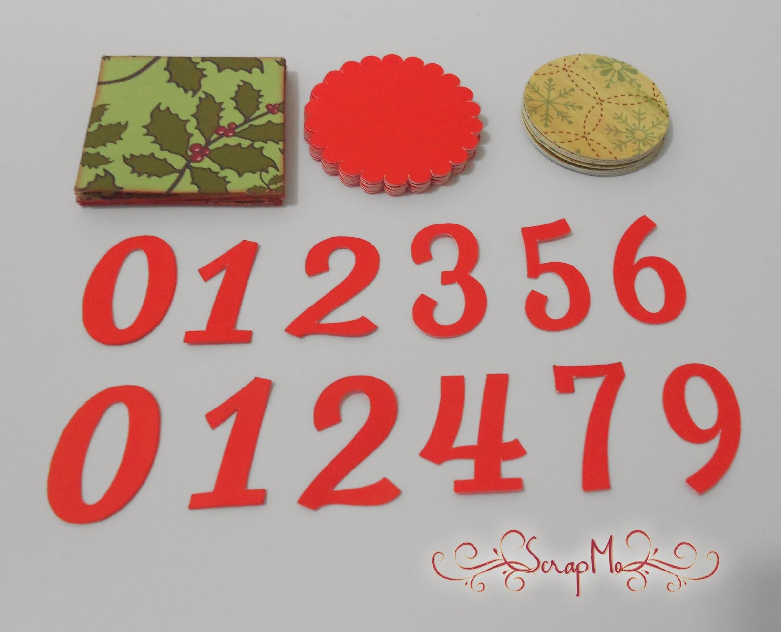 scrapandome con los recuerdos calendario navideño