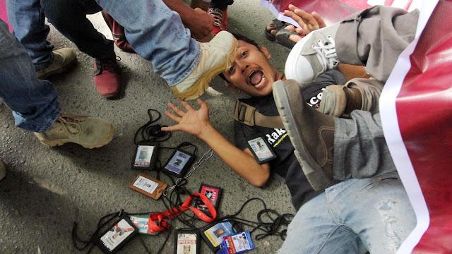 Wartawan Harian Salam Papua Dianiaya Oknum Polisi di Timika