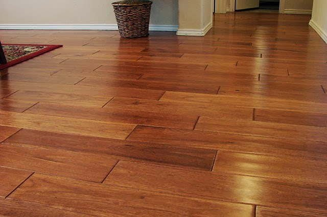 Bamboo wood flooring example (close-up)