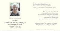 Judith van den Eynde (Juju) 04-07-1902 Malderen - 13-02-2009 De Panne