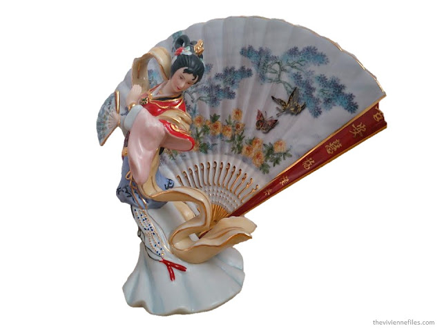 a porcelain figuring of a geisha