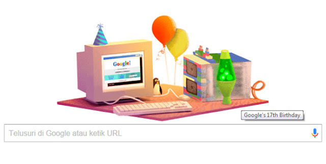 Google Doodle Ulang Tahun Yang Ke-17 27 September 2015 (Google's 17th Birthday)