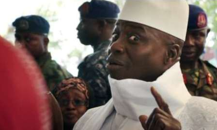 gambian president yahya jameh refused to step down after election loss