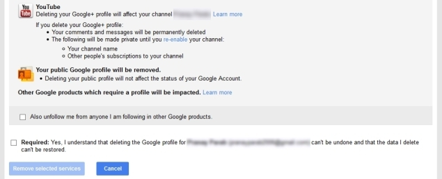 How to delete facebook gmail twitter google youtube or this will delete your google and youtube accounts ccuart Images