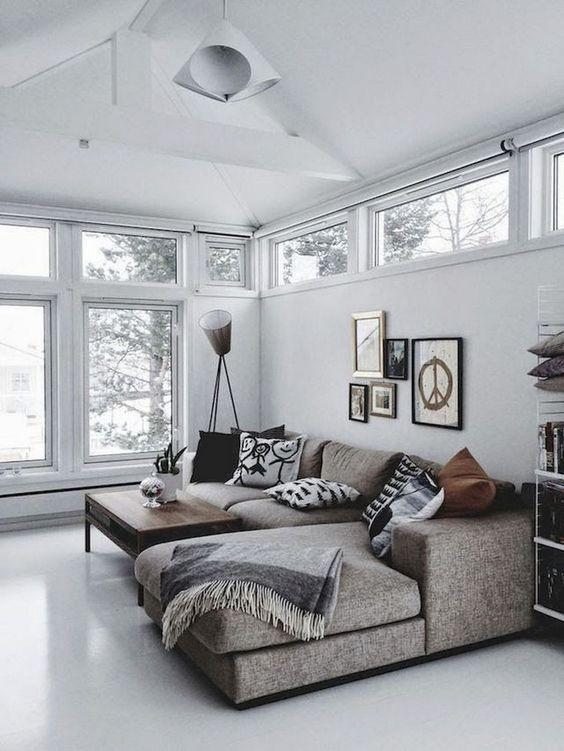 Decorar sala com sofá de canto