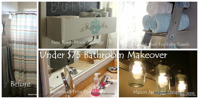 Bathroom Makeover at Beyond the Picket Fence http://bec4-beyondthepicketfence.blogspot.com/