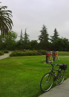 Bikes parked at Charleston Park, Mountain View, California