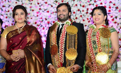 south-indian-actress-meena-jayapradas-son-siddhu-wedding-respection