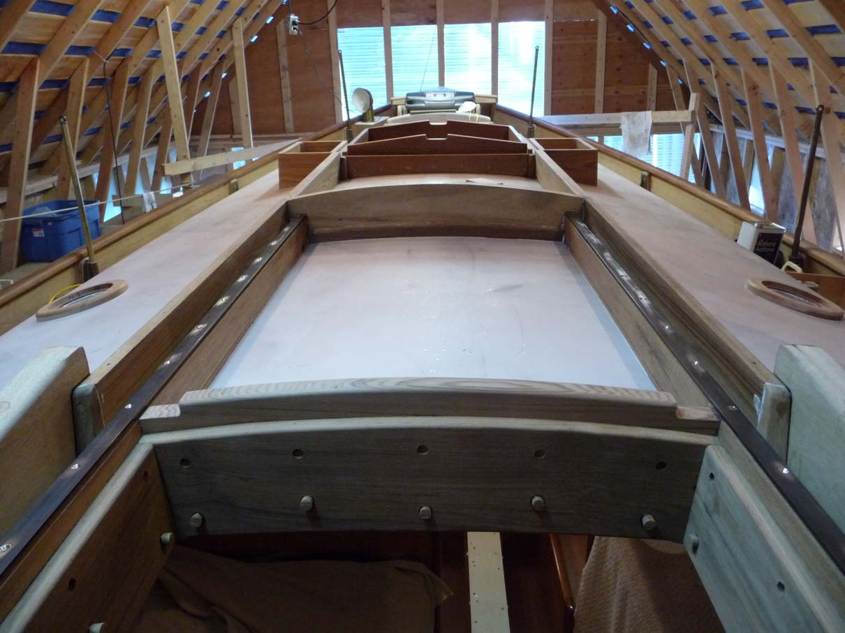 Building A 34 Ft Lyle Hess Falmouth Cutter 2010 Working On The Roof