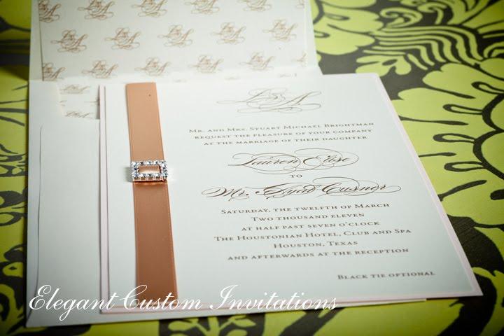 Blush And Ivory Wedding Invitations: Wedding Invitations Houston