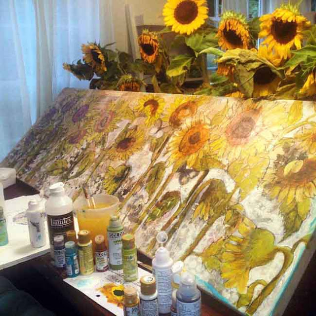 how to paint sunflowers http://schulmanart.blogspot.com/2015/09/preparing-to-plant-painting.html