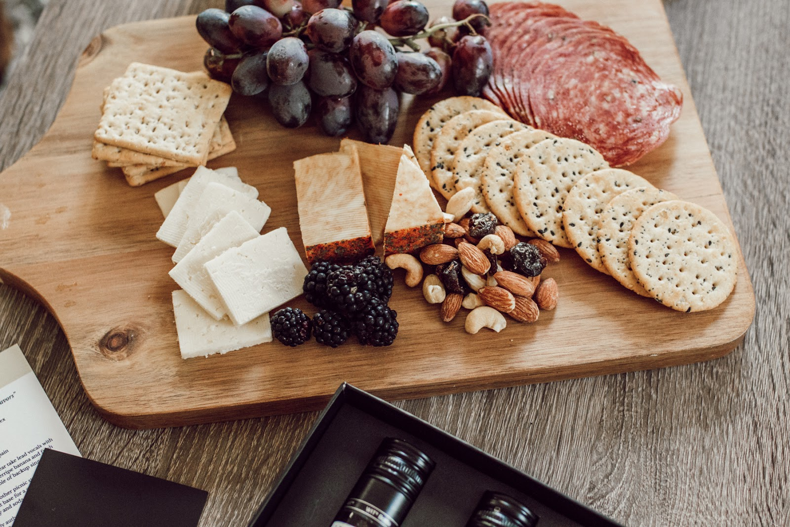 charcuterie board for some wine tasting