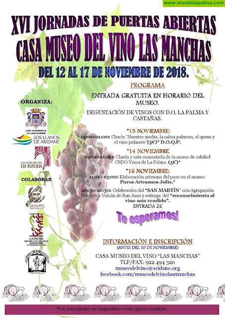 XVI Jornadas de Puertas Abiertas Casa Museo del Vino Las Manchas