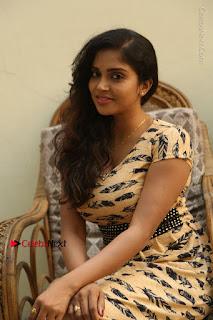 Telugu Actress Karunya Chowdary Stills in Short Dress at ATM Not Working Press Meet  0234.jpg
