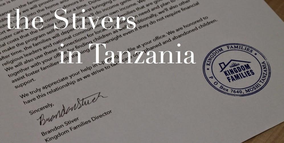 The Stivers in Tanzania
