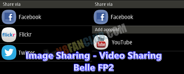 Nokia Belle FP2 Manual Updates: Gallery Sharing, Facebook, Flickr, Twitter, YouTube, Qt Web Kit 4.8.2 & Colorizit Application