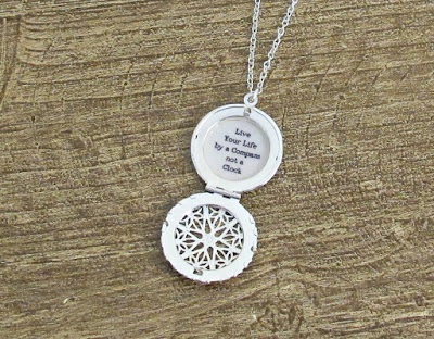 image locket necklace quote live your life by a compass not a clock two cheeky monkeys stephen r covey travel
