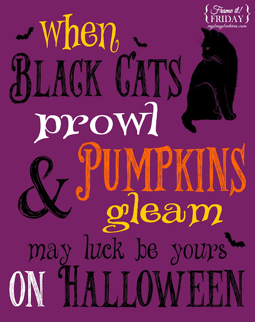 Halloween, printables, black cats, pumpkins