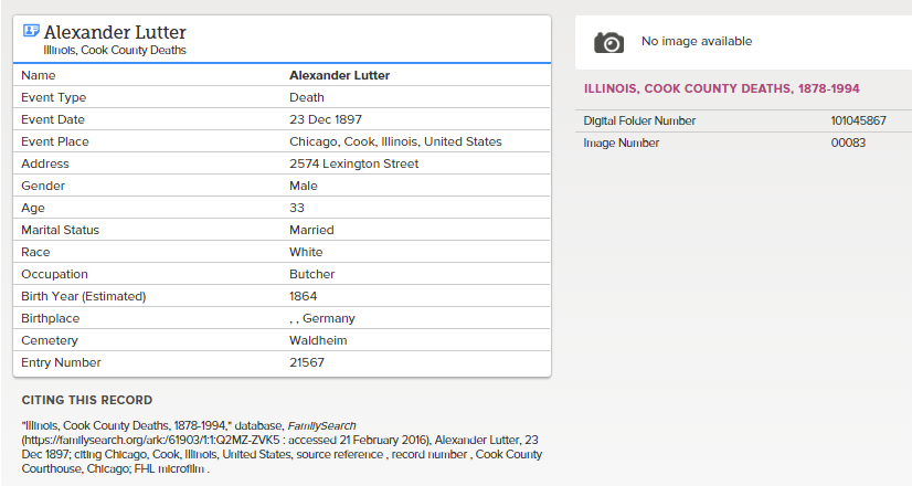 Family History Research By Jody Lutter Death Certificate Not Enough