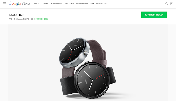 Google Store is offering the standard leather black and stone gray models
