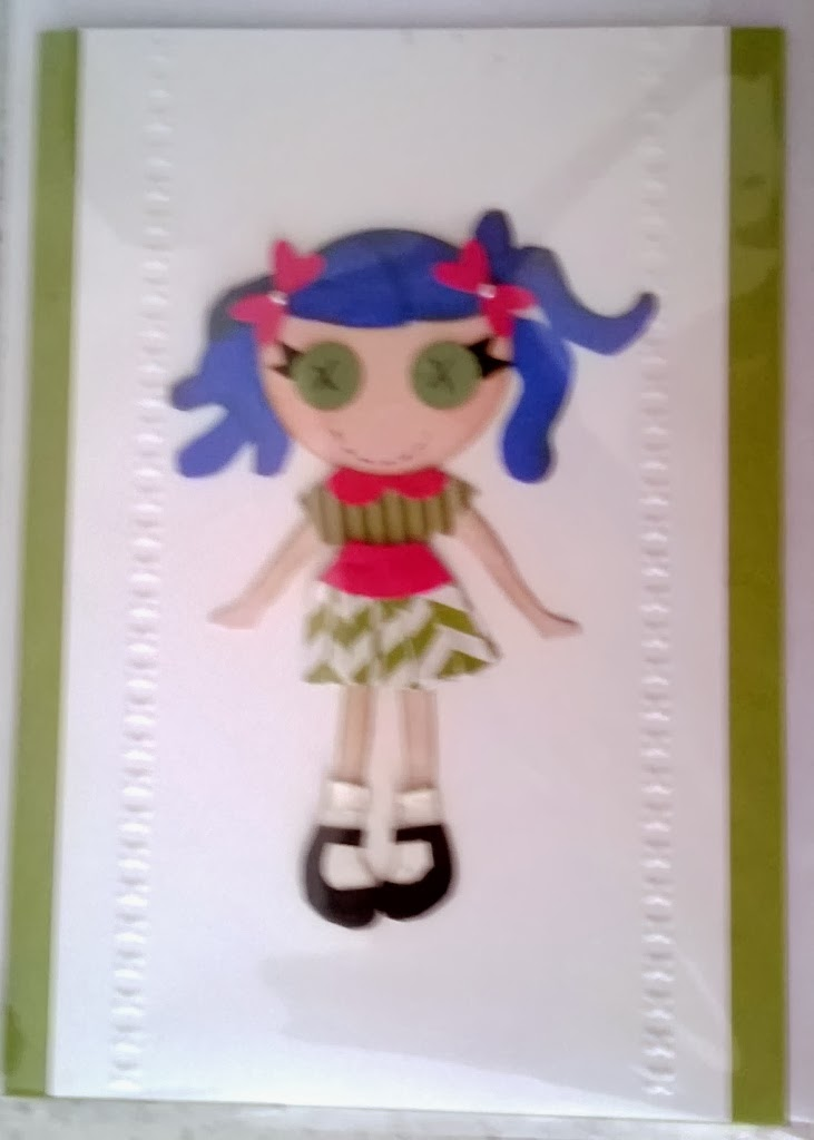 My little gal paper piecing by Zena Kennedy Stampin Up independendent demonstrator