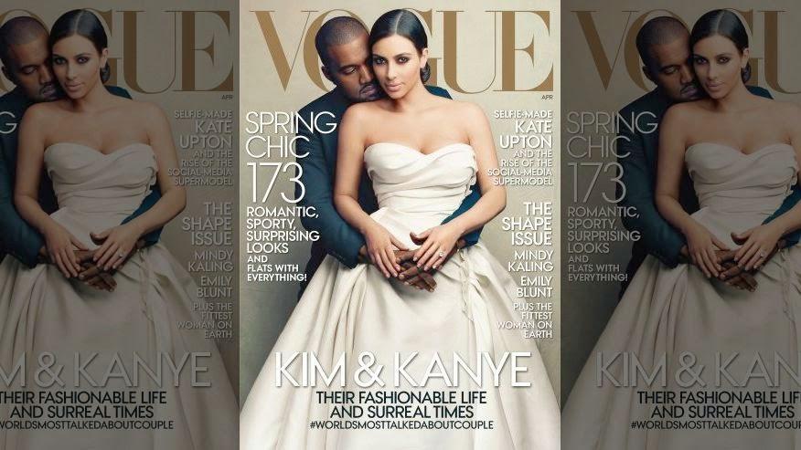 Kim Kanye Vogue Magazine Cover