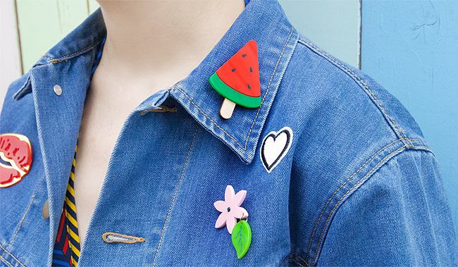 Betty and Veronica, denim jacket, patches