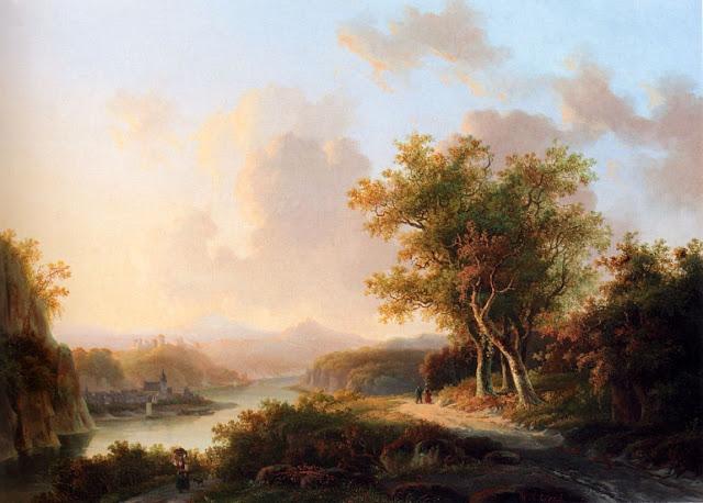 Willem De Klerk - Paisaje veraniego en Renania - s. XIX