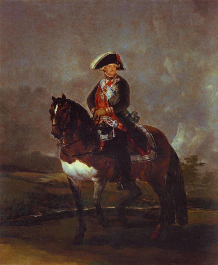 Гойя - конный портрет Карла IV