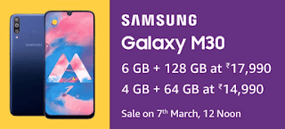 Samsung Galaxy M30, Price, Release date, features