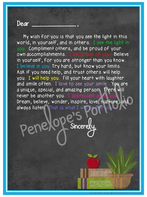 Letter to Student - Chalkboard Version