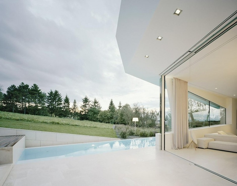 Terrace on Villa Freundorf by Project A01 Architects