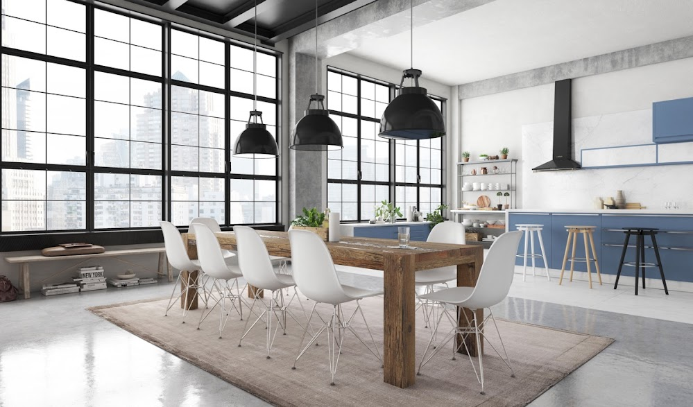 industrial-dining-table-and-chairs