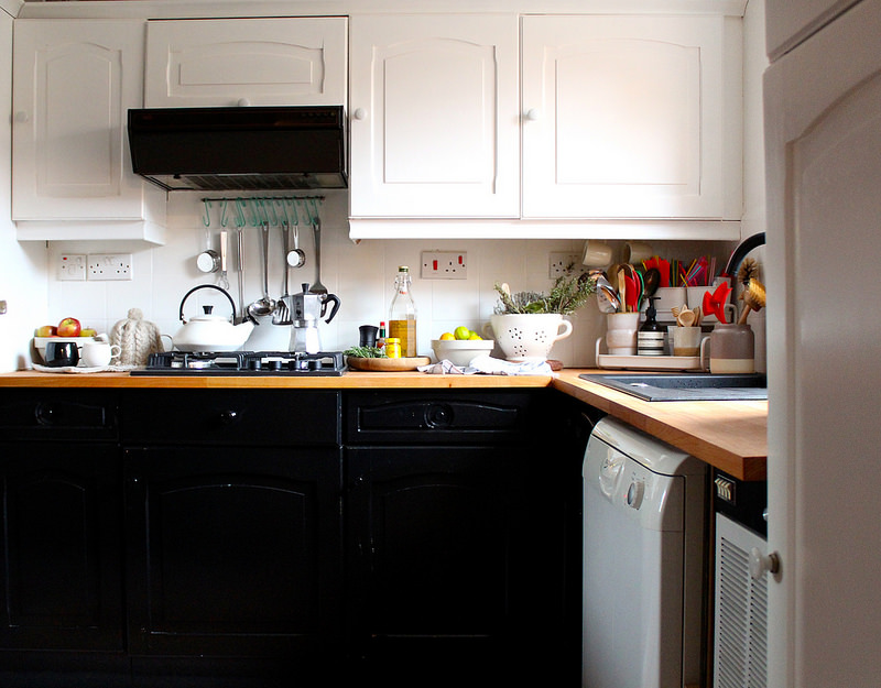 B&q Kitchens White Kitchen Cabinets Interiors Makeover With B Q Oyster And Pearl Uk Budget How To Cupboard Paint Renovation Floor