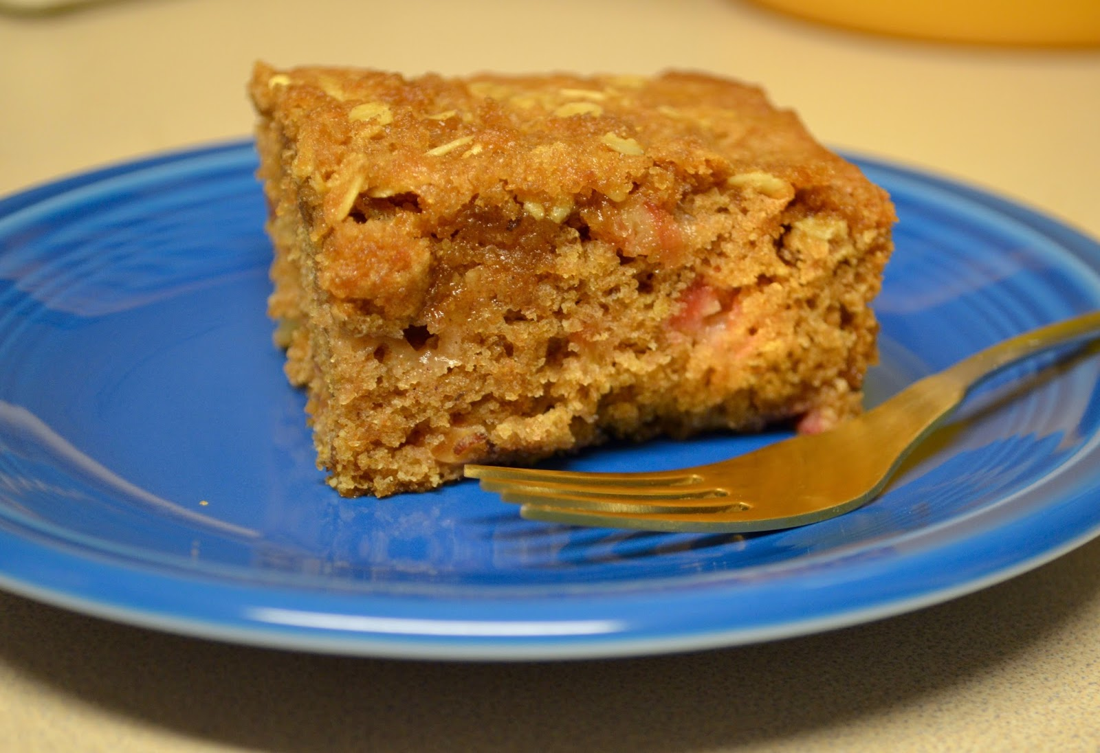 Green Girl Eats Vegan Rhubarb Apple Coffee Cake