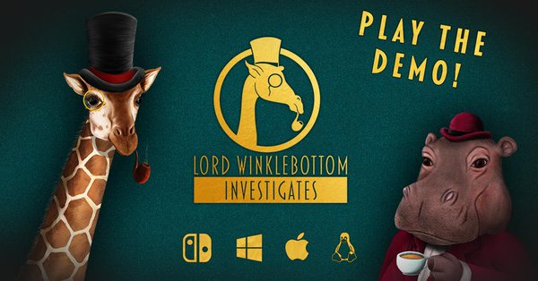 Lord Winklebottom Investigates Kickstarter play the demo