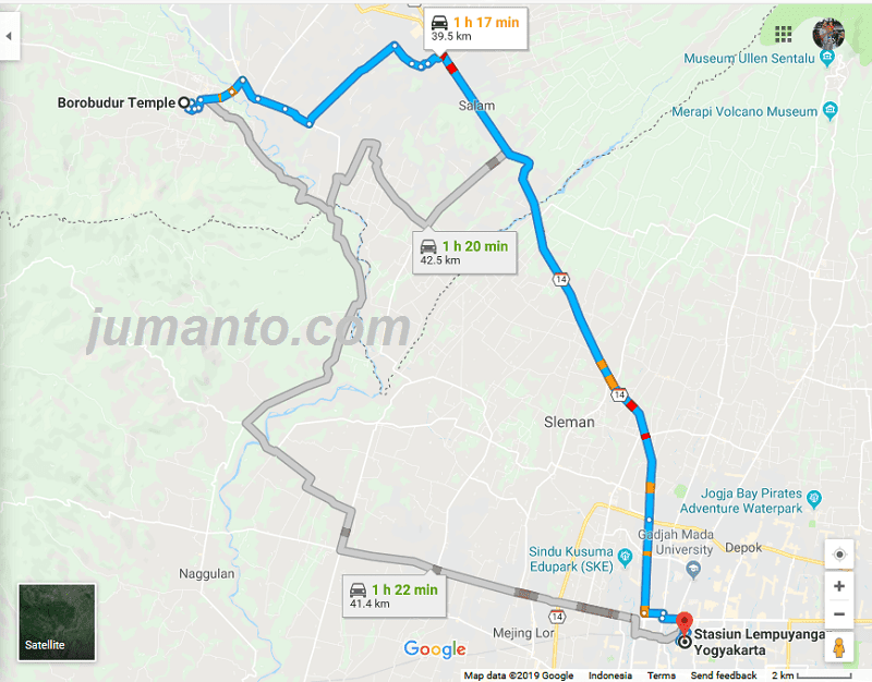 Transportasi Dari Stasiun Lempuyangan Ke Borobudur Naik Bus