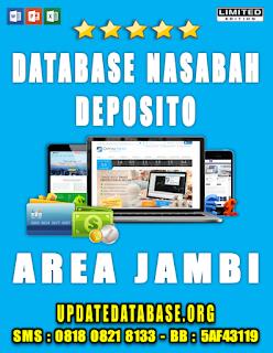 Jual Database Nasabah Deposito Jambi