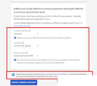 Cara Mendaftar Akun Admob