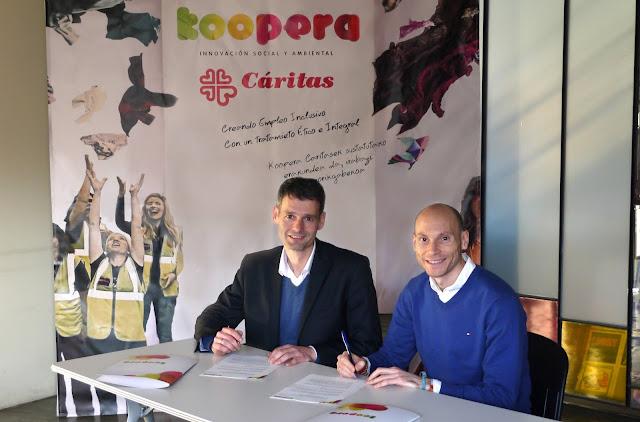 El director gerente de Koopera, Javier Mariño y el director de Ikea Barakaldo, José Antonio Traverso. Foto: Koopera