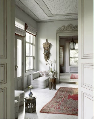 the living room in a yali in the bosphorus is restored in a global chic style via belle vivir blog