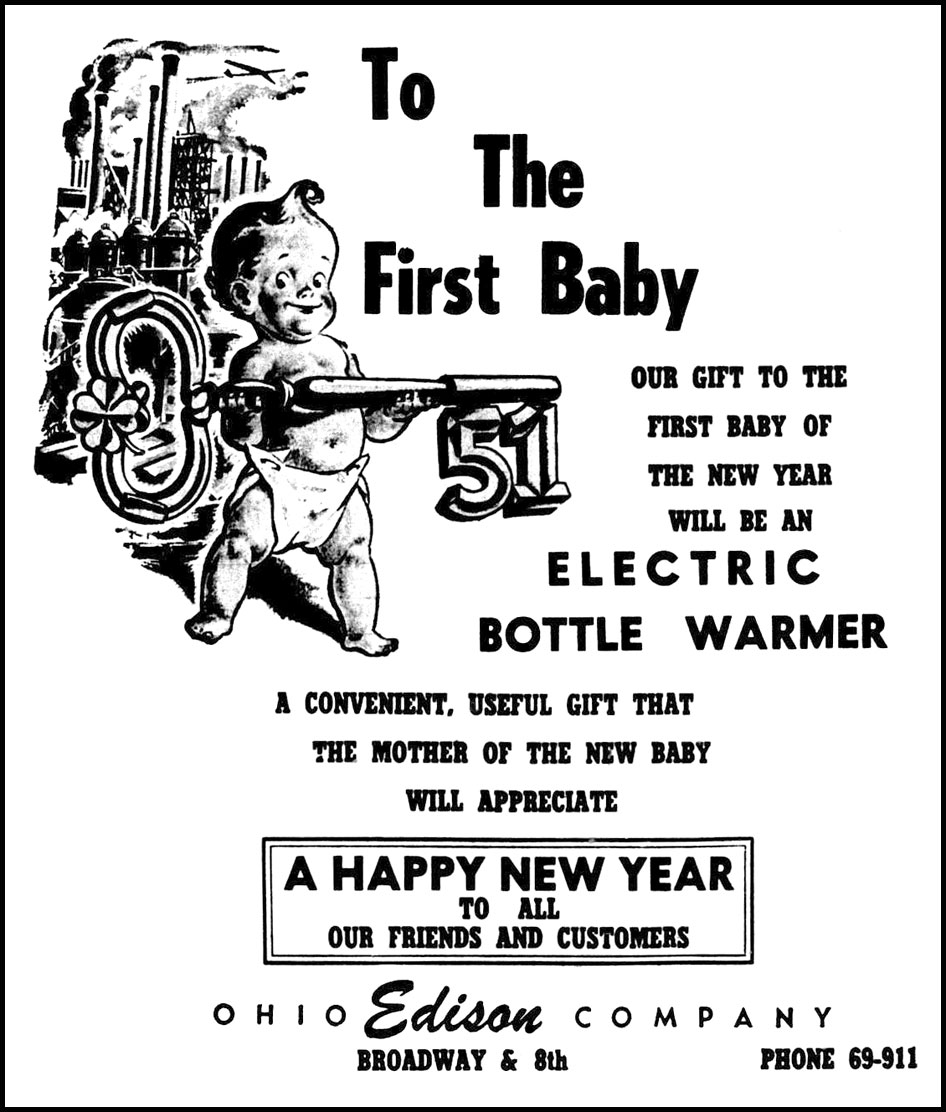 First lorain baby of 1951 contest