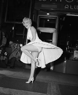 Escena vestido blanco Marilyn Monroe detrás de las cámaras