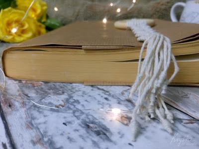 Krysia to uszyła - zakładka do książki - makrama - rękodzieło na 100%