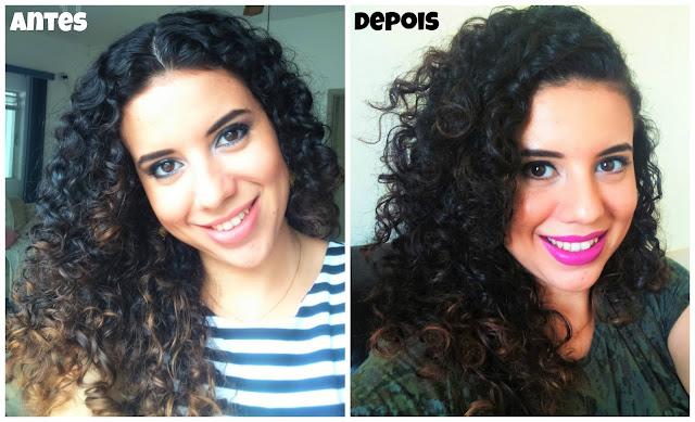 Como eu corto meu cabelo cacheado: Antes e Depois
